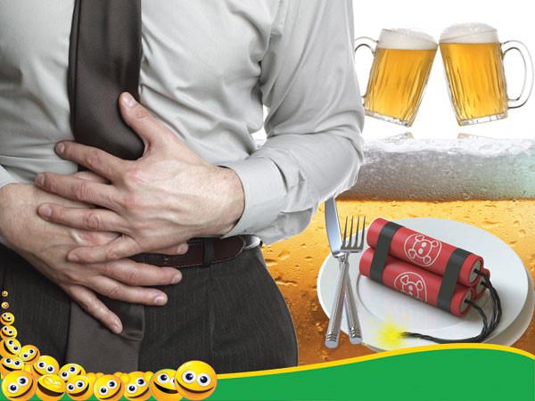 Đi ngoài nhiều lần, đau bụng sau khi uống rượu bia có nên uống BoniBaio?